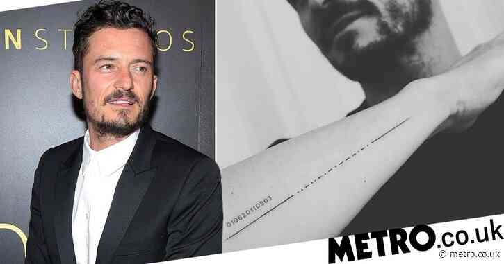 Orlando Bloom accidentally misspells son Flynn's name in new Morse code tattoo