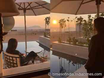 Pics: Sushmita soaks up the early morning sun