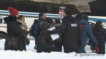 Pipeline protest disrupts train service on Exo's Candiac line | Watch News Videos Online - Globalnews.ca
