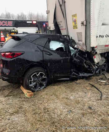 1 Killed After Car Collides With Disabled Semi Truck in NW Indiana: Police
