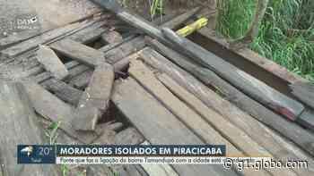 Ponte entre Piracicaba e Charqueada tem madeiras soltas e lateral destruída - G1