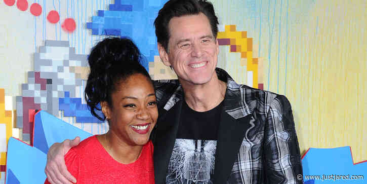 Tiffany Haddish Hugs It Out With Jim Carrey at 'Sonic The Hedgehog' Premiere