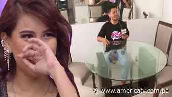 Amy Gutiérrez lloró al recibir regalo para su departamento de estreno - América Televisión
