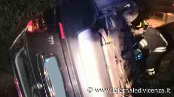 Tanta paura per la vettura in bilico su un fosso - Il Giornale di Vicenza