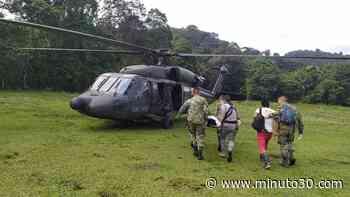 FOTOS: Fuerza Aérea evacuó un indígena de Urrao que fue mordido por una peligrosa serpiente - Minuto30.com