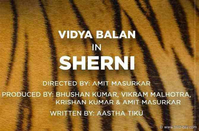 After Shakuntala Devi, Vidya Balan is all set to turn into a Sherni!