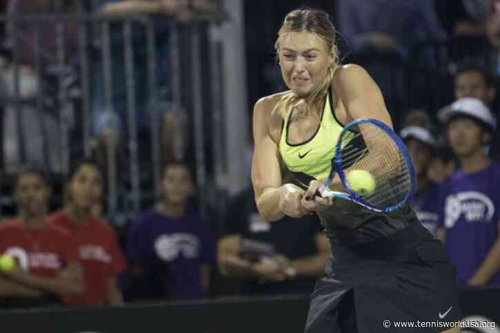 Maria Sharapova joins Orange County Breakers for two WTT matches in 2020