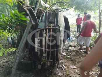 ¡Cuatro heridos! deja volcamiento de pickup en Macuelizo, Santa Bárbara - hch.tv