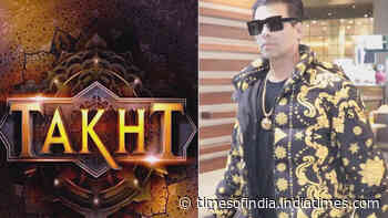 Karan Johar's ambitious project 'Takht' gets a budget of Rs 250 crore?
