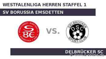 SV Borussia Emsdetten gegen Delbrücker SC: Topteam SV Borussia Emsdetten will punkten - t-online.de