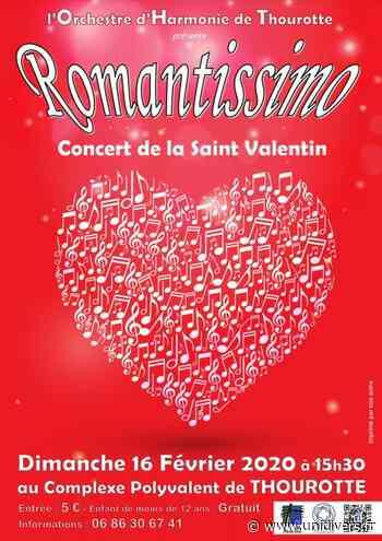 Concert de la Saint-Valentin « ROMANTISSIMO » Complexe Polyvalent Edouard Pinchon de Thourotte 16 février 2020 - Unidivers