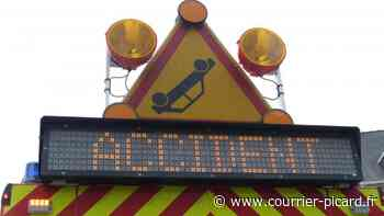 Accident matériel sur l'A16 vers Sailly-Flibeaucourt, la circulation perturbée - Courrier Picard