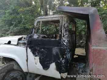Piden respeto a derechos jóvenes supuestamente quemaron camión en La Vega - El Masacre