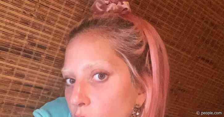 Lady Gaga Shows Off New Bleached Eyebrows in Makeup-Free Selfie on Instagram