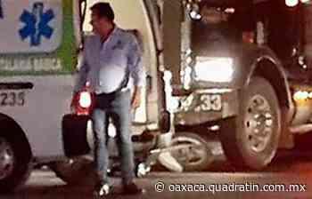Atropellan a motociclista en San Jacinto Amilpas - Quadratín Oaxaca