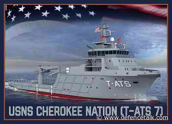 Keel Laid for Future USNS Cherokee Nation (T-ATS 7)