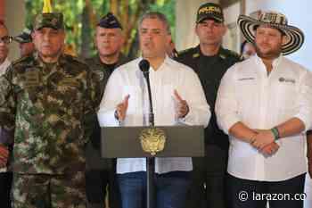 Colombia no para ante amenazas de grupos armados: Duque desde Montelíbano - LA RAZÓN.CO