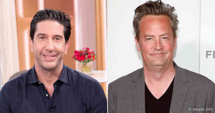 David Schwimmer Dodges Friends Reunion Comment, Jokes 'Maybe Matthew Perry Is Pregnant'