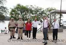 Giobellina acompañó a funcionarios nacionales a El Cadillal y ponderó el trabajo de Prefectura junto a la Policía de Tucumán - Ente Tucumán Turismo