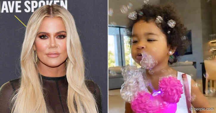 Bubbles! Presents! Khloé Kardashian Celebrates Valentine's Day with Daughter True, 22 Months