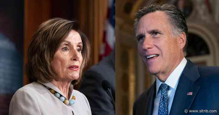 Commentary: How Sen. Mitt Romney and Nancy Pelosi used their faith to resist Trump