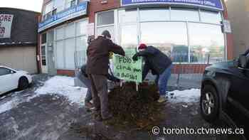Charges laid after pickup truck full of manure dumped in front of Ford's office