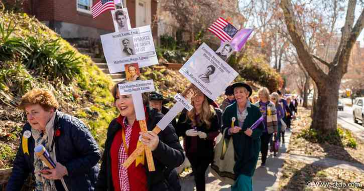 Utah celebrates 150th anniversary of women voting with remembrance walk in Salt Lake City