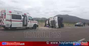 Vuelca tracto camión que transportaba tierra en Tula, Tamaulipas - Hoy Tamaulipas