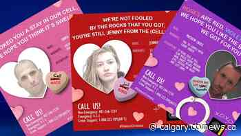 I love you (behind bars): Police release series of Valentine's Day cards for wanted Calgarians