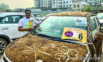 Cow dung wrapped Maruti Ignis wins modified cars competition - RushLane