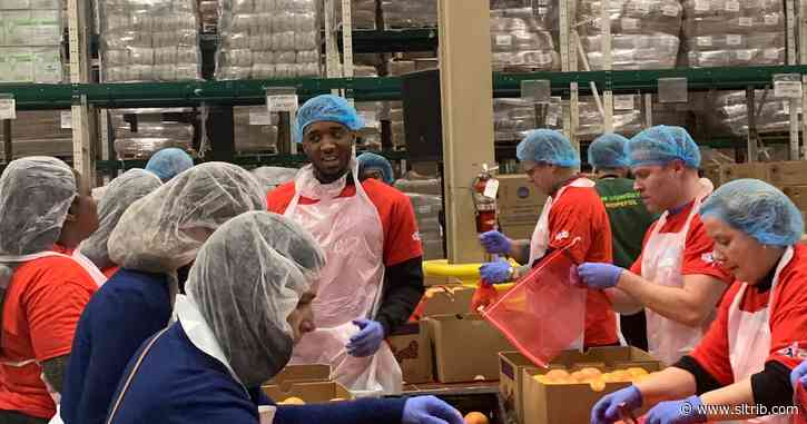 Rudy Gobert and Donovan Mitchell get a chance to give back, make a difference at All-Star Weekend events
