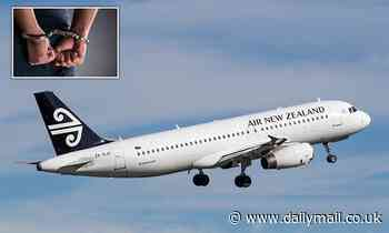 Business class passenger handcuffed after 'attacking crew member' on Air New Zealand flight from LA
