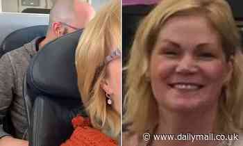 American Airlines stewardess threatened to ARREST female passenger for filming man  pummeling seat