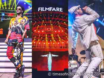 Pics of Ranveer from the Filmfare rehearsals