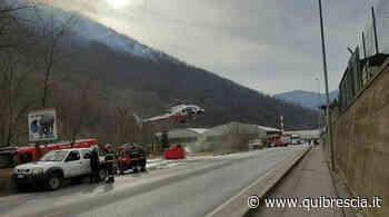 Sarezzo, fiamme sul monte Palosso e il traffico va in tilt - QuiBrescia.it