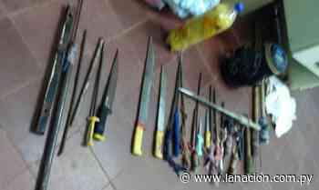 Incautan unas 20 armas blancas en penitenciaría de San Pedro - La Nación.com.py