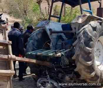 Muere motociclista al colisionar contra tractor en San Pedro, Sucre - El Universal - Colombia
