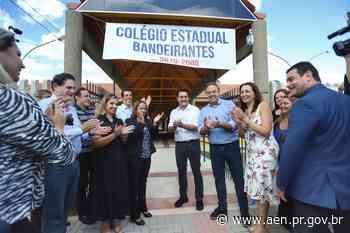 Em Campina Grande do Sul, 700 alunos iniciam o ano em nova escola - Agência Estadual de Notícias do Estado do Paraná