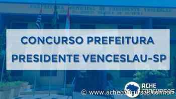 Prefeitura de Presidente Venceslau-SP abre concurso na saúde - Ache Concursos
