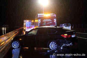 Unfall auf A3 bei Waldaschaff - BMW prallt mehrfach in Leitplanke - Main-Echo