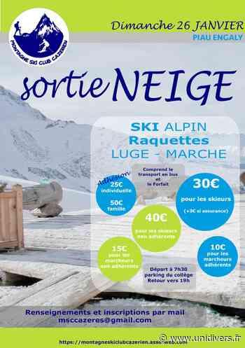 Sortie Neige pour tous à Piau Engaly ! Collège de Cazeres Cazères 26 janvier 2020 - Unidivers
