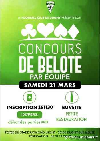 CONCOURS DE BELOTE Dugny-sur-Meuse, 21 mars 2020 - Unidivers