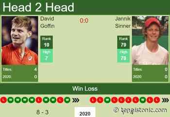 H2H. David Goffin vs Jannik Sinner | Rotterdam prediction, odds, preview, pick - Tennis Tonic