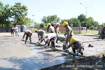 Comenzó la construcción de un gran playón deportivo en El Zaizar - El Diario Sur