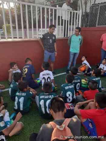 Néstor Salomé convive y comparte experiencias con niños de Búfalos Xochitepec - Unión de Morelos