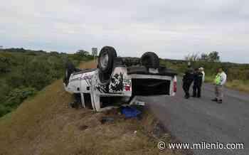 Camioneta sufre volcadura y deja un lesionado en Altamira - Milenio