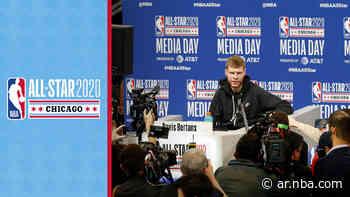 Davis Bertans, el letón ex San Antonio Spurs, recordó a Manu Ginóbili durante el NBA All-Star Weekend Chicago 2020 - NBA AR