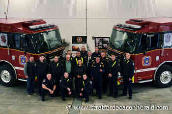 Perth East Fire Department unveils two new tanker trucks for Milverton and Sebringville stations - The Beacon Herald