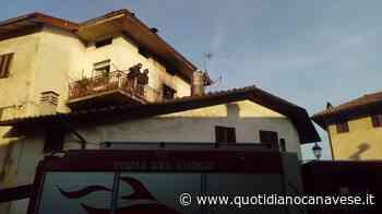 VALPERGA - Incendio in alloggio, intervento dei pompieri - FOTO - QC QuotidianoCanavese