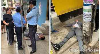 Regidor de Ascope es hallado inconsciente frente a bar - Diario Correo